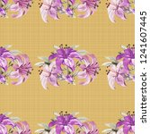 seamless floral pattern with... | Shutterstock .eps vector #1241607445