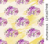 seamless floral pattern with... | Shutterstock .eps vector #1241607448