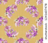 seamless floral pattern with... | Shutterstock .eps vector #1241607478