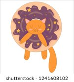 glazed donats color contrast... | Shutterstock .eps vector #1241608102