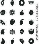 solid black vector icon set  ... | Shutterstock .eps vector #1241616568