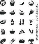 solid black vector icon set  ... | Shutterstock .eps vector #1241618152