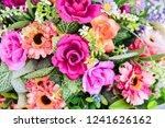 bouquet of artificial flowers   Shutterstock . vector #1241626162