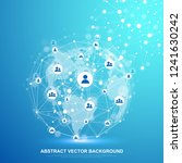 global structure networking and ... | Shutterstock .eps vector #1241630242