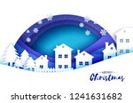 merry christmas and happy new... | Shutterstock .eps vector #1241631682