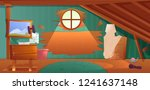 the interior of the attic. an... | Shutterstock . vector #1241637148