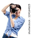 Woman Photographer Takes Image...