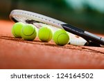 Close Up View Of Tennis Racket...