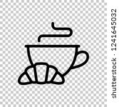 cup of coffee or tea and... | Shutterstock .eps vector #1241645032
