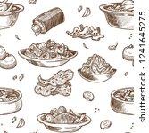 korean cuisine traditional... | Shutterstock .eps vector #1241645275