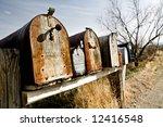 Old Vintage Mailboxes In Rural...