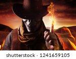 photo of a demonic skull head... | Shutterstock . vector #1241659105