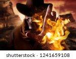 photo of a demonic skull head... | Shutterstock . vector #1241659108