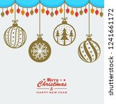 merry christmas background with ... | Shutterstock .eps vector #1241661172