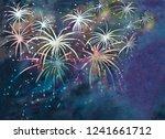 colorful night sky full of... | Shutterstock . vector #1241661712