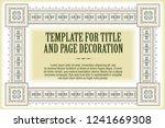 vector template flyer ...   Shutterstock .eps vector #1241669308