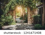 stone arch entrance wall with... | Shutterstock . vector #1241671408