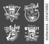 vintage monochrome lounge bar... | Shutterstock .eps vector #1241676082