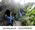 female model shooting in huay... | Shutterstock . vector #1241690842