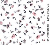 cute floral pattern of small... | Shutterstock .eps vector #1241693728