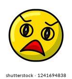 yellow scared screaming emoji...   Shutterstock .eps vector #1241694838