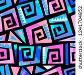 graffiti sportswear print ... | Shutterstock .eps vector #1241704852