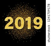happy new year 2019 card with...   Shutterstock .eps vector #1241709178