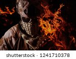 military soldier portrait with... | Shutterstock . vector #1241710378