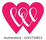 love word lettering in shape of ... | Shutterstock .eps vector #1241723812