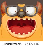 monster with glasses | Shutterstock .eps vector #124172446