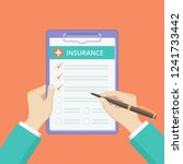 health insurance policy on... | Shutterstock .eps vector #1241733442
