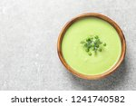 fresh vegetable detox soup made ... | Shutterstock . vector #1241740582