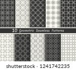 set of seamless geometric... | Shutterstock .eps vector #1241742235