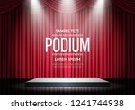 podium on background of the red ... | Shutterstock .eps vector #1241744938