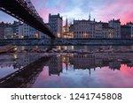 footbridge passerelle saint... | Shutterstock . vector #1241745808