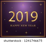 2019 new year back ground... | Shutterstock .eps vector #1241746675