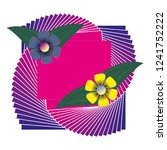 flower blend invitation... | Shutterstock .eps vector #1241752222
