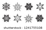 collection of elegant tracery... | Shutterstock .eps vector #1241755108