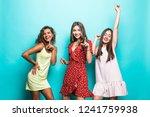 happy female friends in...   Shutterstock . vector #1241759938