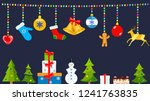 set of christmas symbols and... | Shutterstock . vector #1241763835