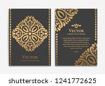 gold vintage greeting card on a ... | Shutterstock .eps vector #1241772625