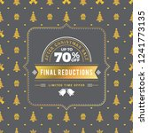 christmas sale poster design.... | Shutterstock .eps vector #1241773135