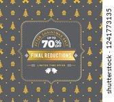 christmas sale poster design.... | Shutterstock .eps vector #1241773135
