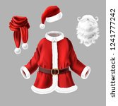 vector set with santa claus... | Shutterstock .eps vector #1241777242