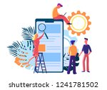 flat people interact with parts ... | Shutterstock .eps vector #1241781502