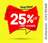 sale 25  off  banner design... | Shutterstock .eps vector #1241782468