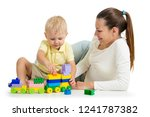 mother and child build out of... | Shutterstock . vector #1241787382