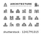 building line icons. cityscape... | Shutterstock .eps vector #1241791315