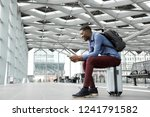 side portrait of young black...   Shutterstock . vector #1241791582