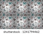 in simple style. abstract cute...   Shutterstock . vector #1241794462